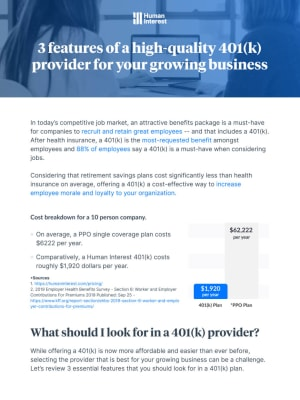 3 Features of a High-Quality 401(k) for Your Growing Business