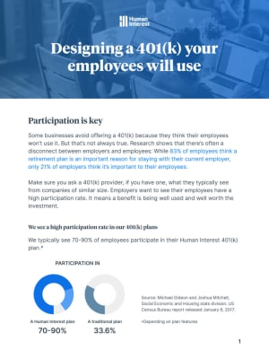 Designing a 401(k) Your Employees Will Use