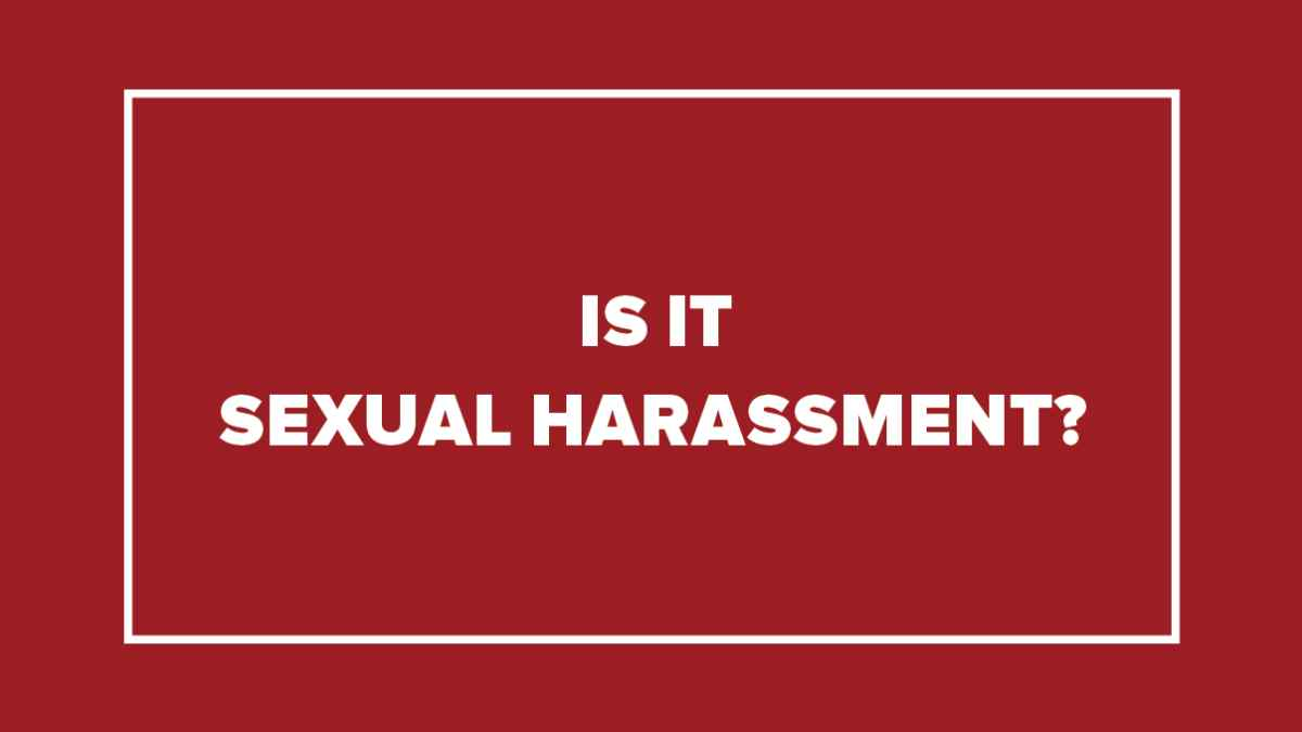 questions about sex harassment in Knoxville