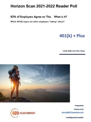 Annual 401(k) Poll For HR