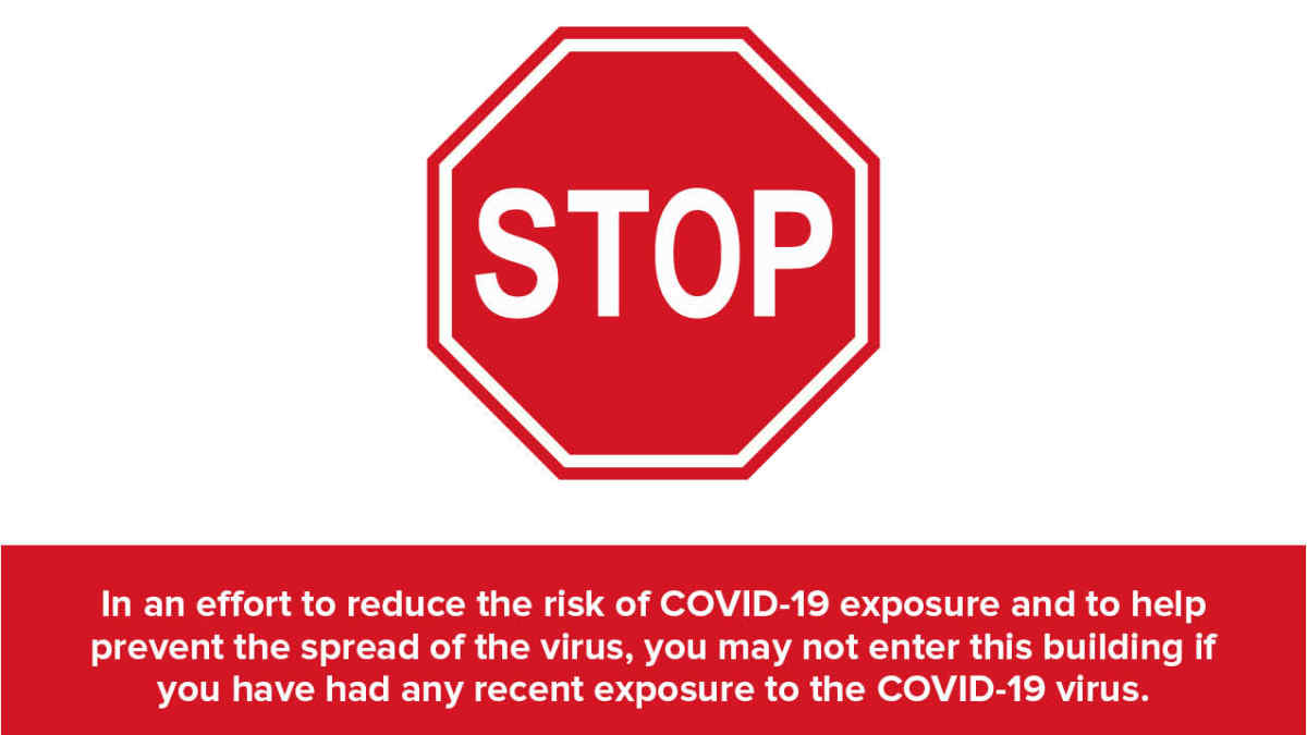 STOP COVID Virus self isolating quarantine Signs offices and businesses DECAL 19