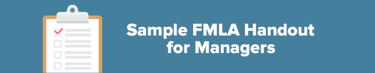 Sample FMLA Handout for Managers