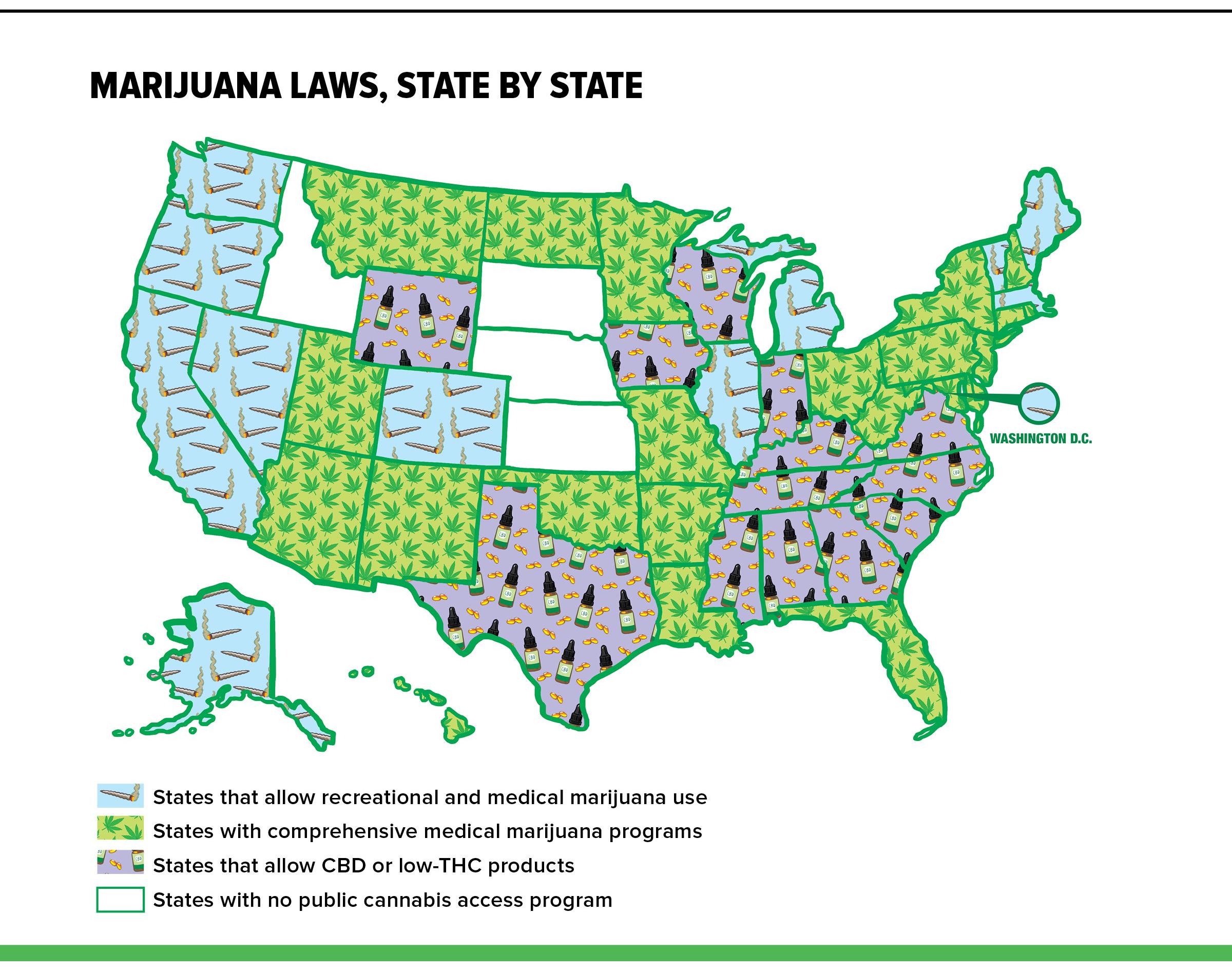 marijuana states map